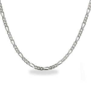 Figaro Sterling Silver Necklace - 18 in.